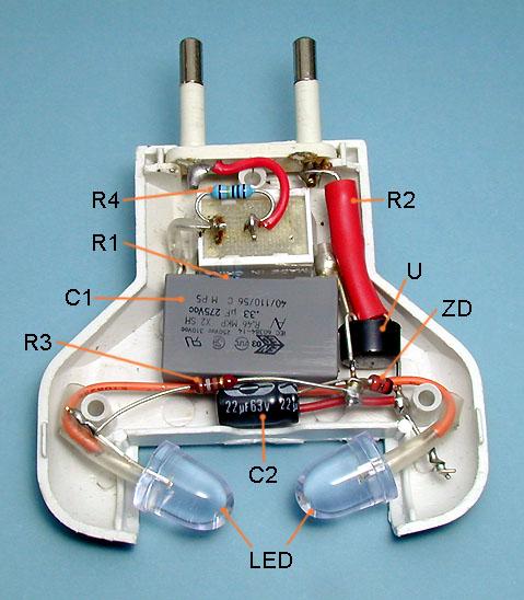 Białe LED zasilane napięciem 230V