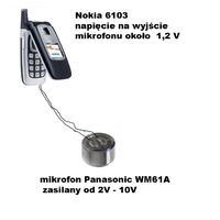 komórka i mikrofon WM61A - buczy - jak podnieść napięcie?