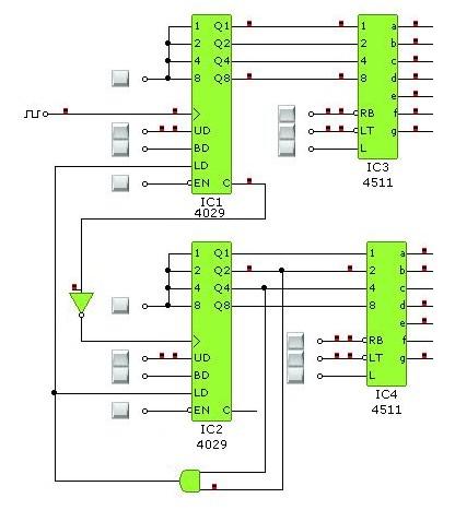 Problem z zerowaniem licznika CD4029 przy projekcie zegarka