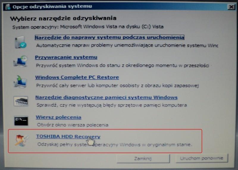 Toshiba L500 1q9 Przywrócenie Windows 7 64 Bit Za Pomocą