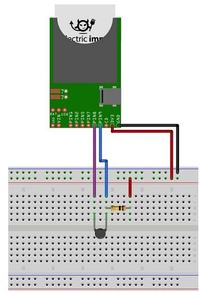Termometr z po��czeniem internetowym oparty na electric imp