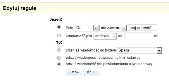 spam randkowy Gmail