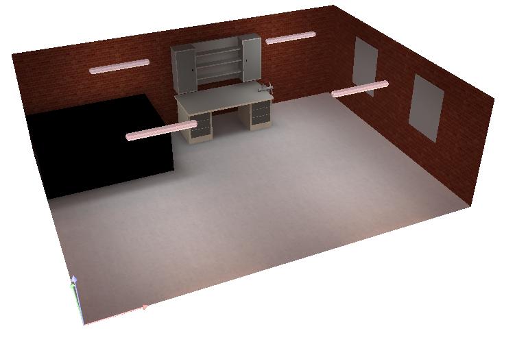 Oświetlenie Garażu 6mx8m ścienne Elektrodapl