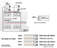 Satel Integra 128 WRL Sterowanie LED Podbitka