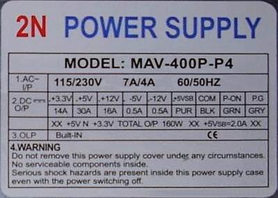 2N Power Supply model: MAV-400P-P4 padły (zwarcie baza-kolektor) tranzystory MJE