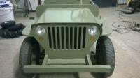 Elektryczny jeep willys MB w skali 1:2
