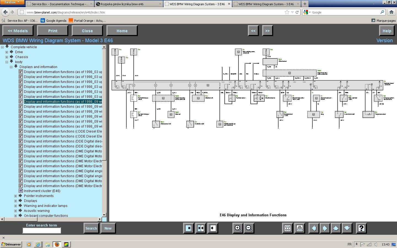 Rozpiska pin�w licznika bmw e46