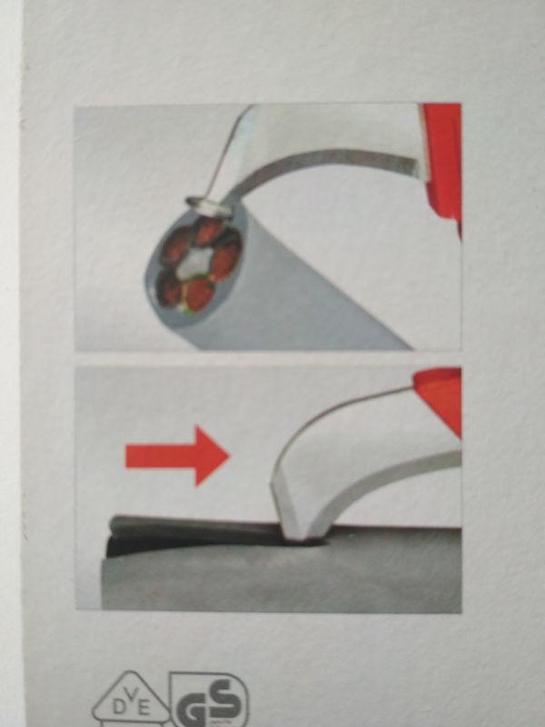 Nóż ze stopką do usuwania izolacji przewodów: Wiha 36053, recenzja