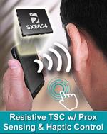 SX86xx - kontroler rezystancyjnych ekran�w dotykowych z czujnikiem zbli�eniowym