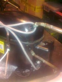 Podłączenie armatury do sprężarki