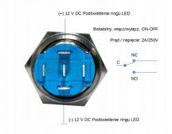 Jak podłączyć łącznik bistabilny podświetlany?