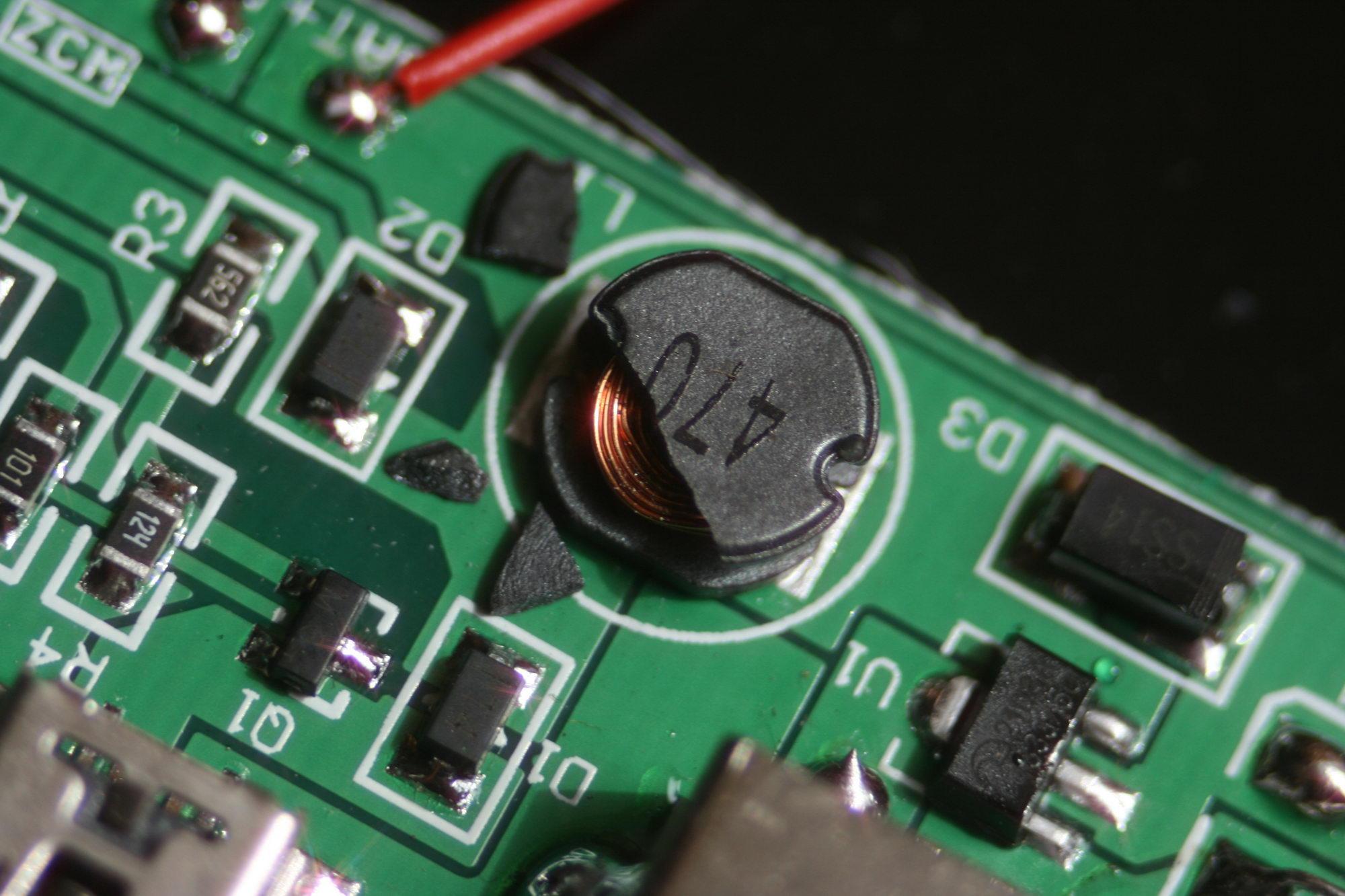 Solar Power Charger for PDA - Uszkodzony rdze� cewki. Pytanie o dob�r elementu.