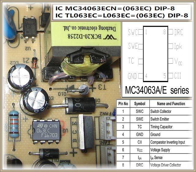 Płyta indukcyjna Zelmer ZP16010BE- Układ scalony w zasilaczu do sterowania