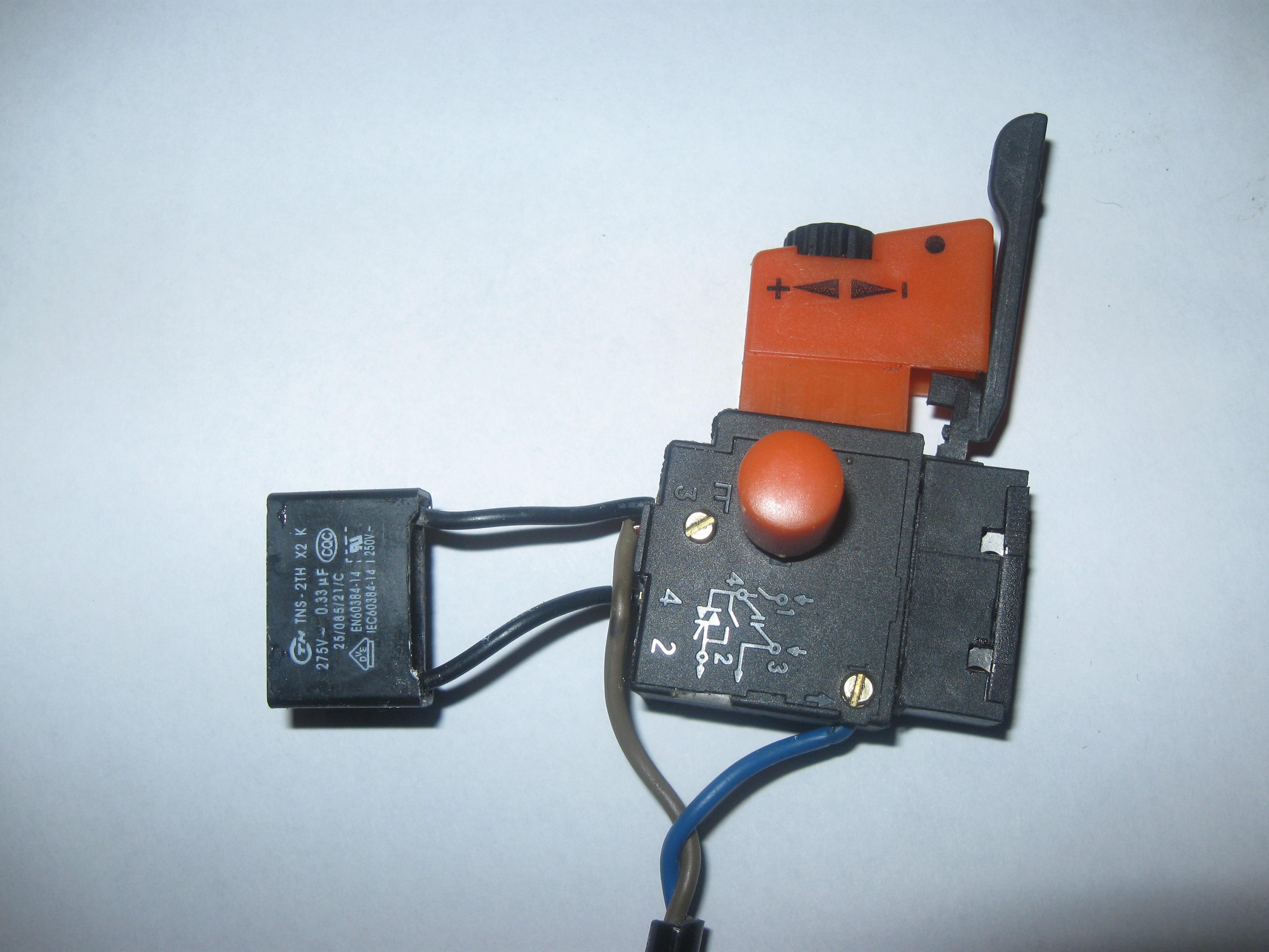 Схема включения кнопки дрели fa2-6