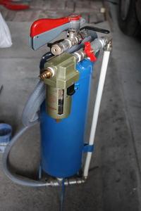 Piaskarka ciśnieniowa własnej roboty
