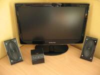 Mini plexi wzmacniacz + głośniki a la Samsung (do komputera)