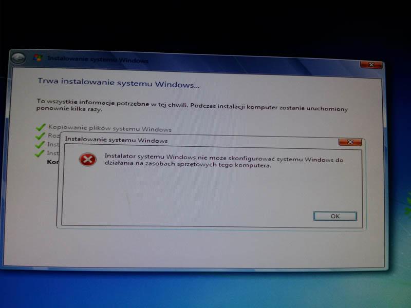 Windows 7 - Instalacja nowego systemu na DELL