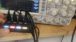 Komplet optoizolowanych różnicowych sond wysokonapięciowych do oscyloskopu