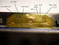 LG 42LG3000 - Matryca T420XW01 połączenie taśmy flex