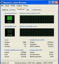 U�ycie procesora 100% od chwili uruchomienia komputera