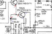 Denon PMA-920 - gra tylko kanał prawy, składowa stała na kanale lewym