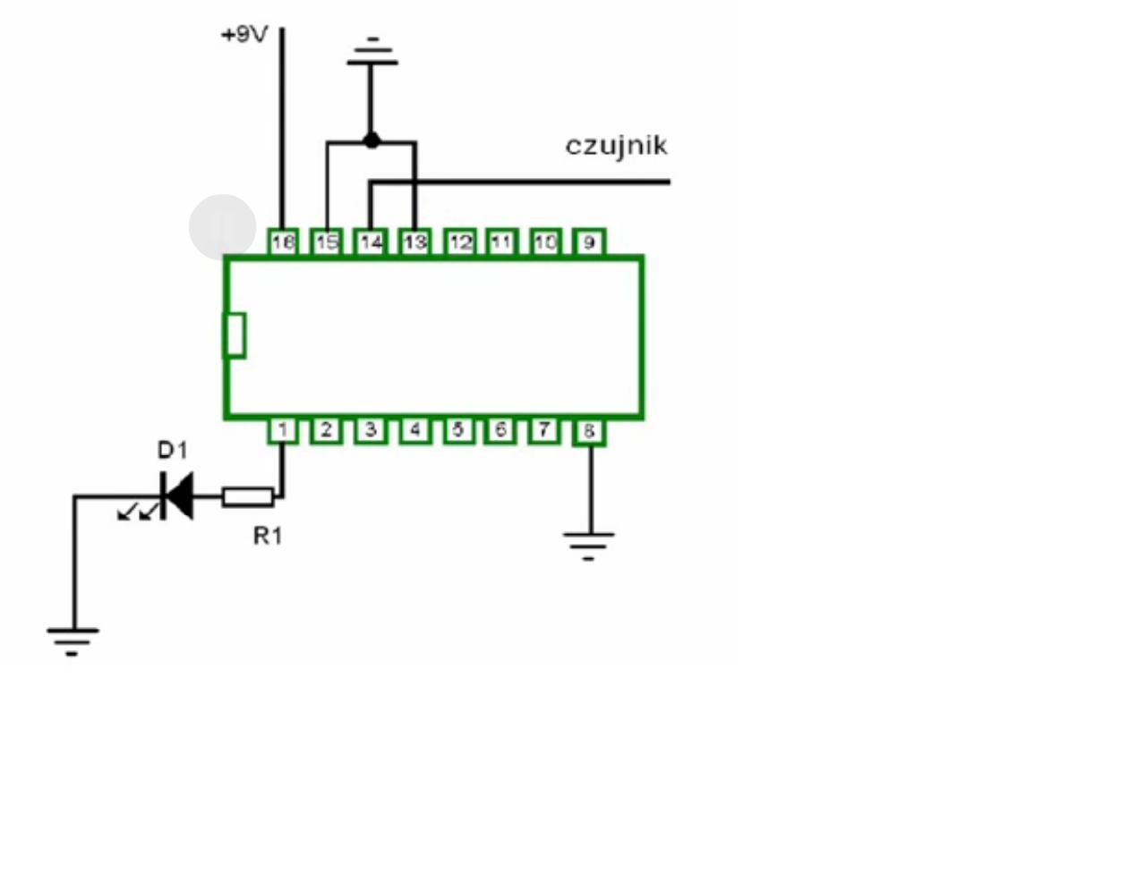 Wykrywacz przewod�w na CMOS4017