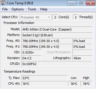 Acer Aspire 7540G grzanie si� komputera, wy��czanie