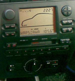 Seat Ibiza II FL 99r. Wyświetlanie klimatyzacji
