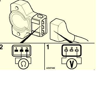 potencjometr gazu i czujnik przepustnicy Rover 416