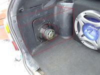 Zabudowa car audio z włókna szklanego