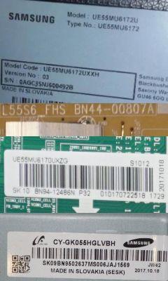 Samsung UE55MU6172 - Nie włącza się, płyta BN94-12774A