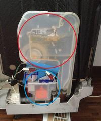 ZBI-073IT2 - zmywarka Mastercook - demontaż i czyszczenie zbiornika na wodę