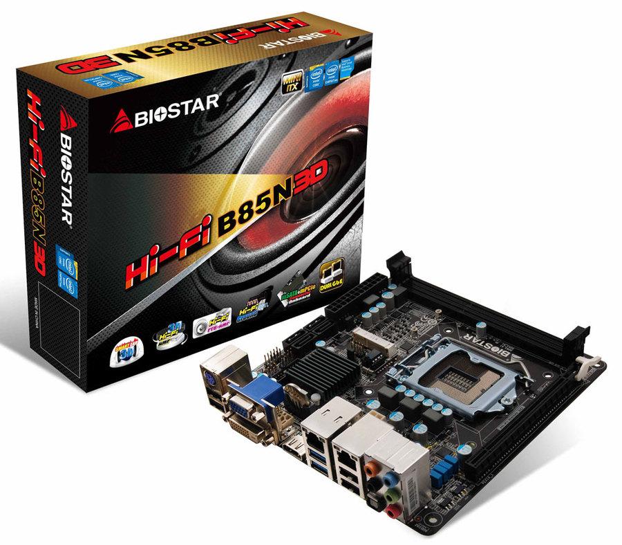 Biostar Hi-Fi B85N 3D -p�yta Mini-ITX ze zintegrowanym wzmacniaczem s�uchawkowym