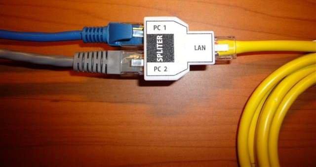 Podział kabla ethernet - dwa urządzenia na jednej skrętce