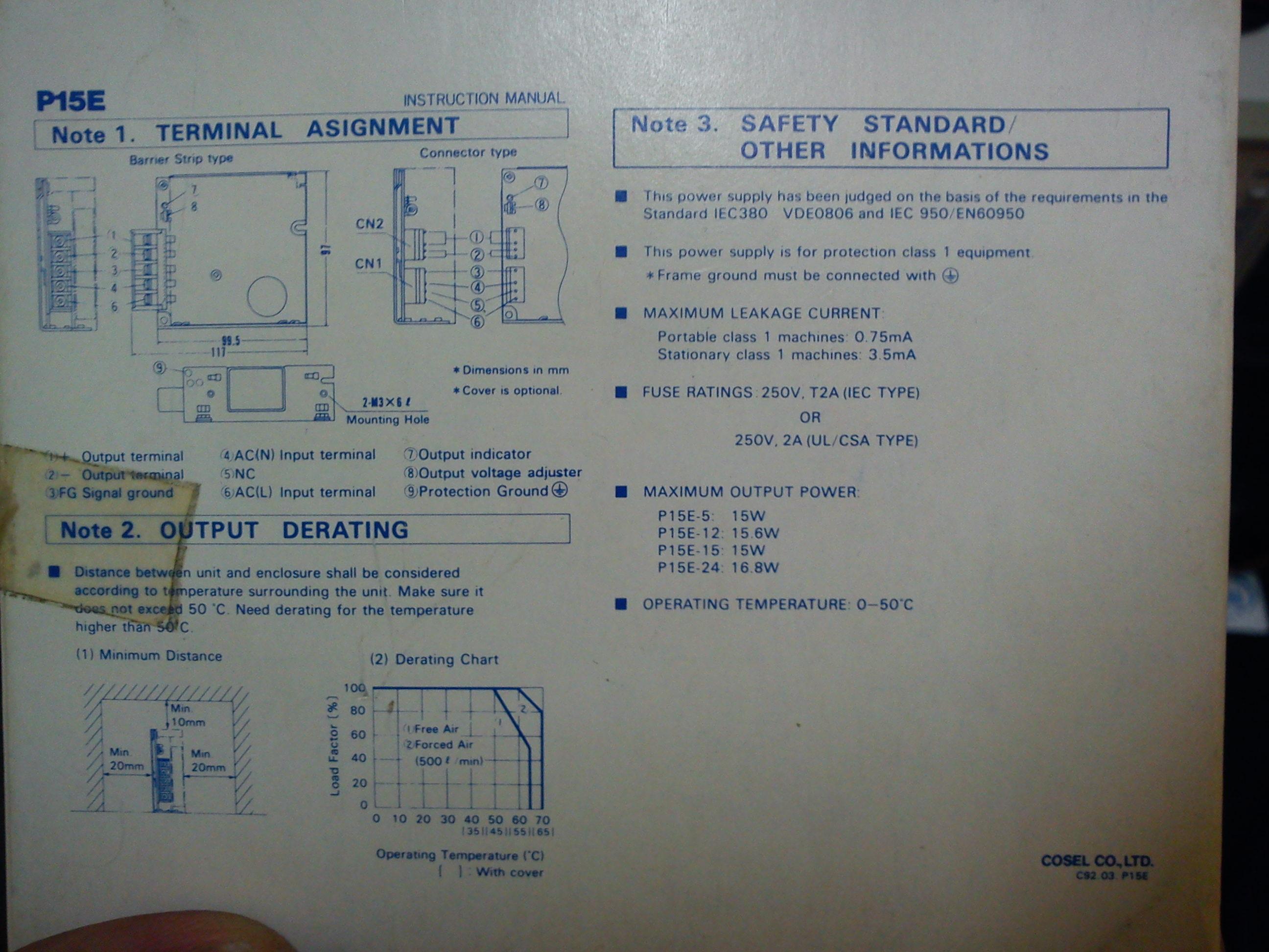 [Sprzedam] Zasilacz przemys�owy COSEL P15 5V 3A - nowy