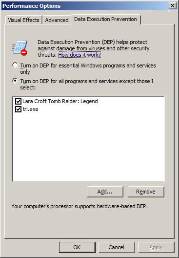 Windows 7 - Appcrash: Tomb Raider Legend