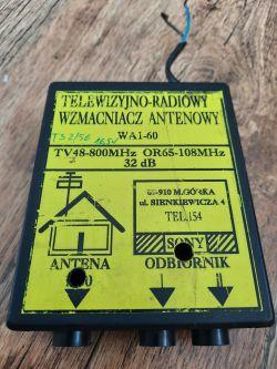 Stary polski wzmacniacz antenowy szerokopasmowy AWS-09 produkcji AMS