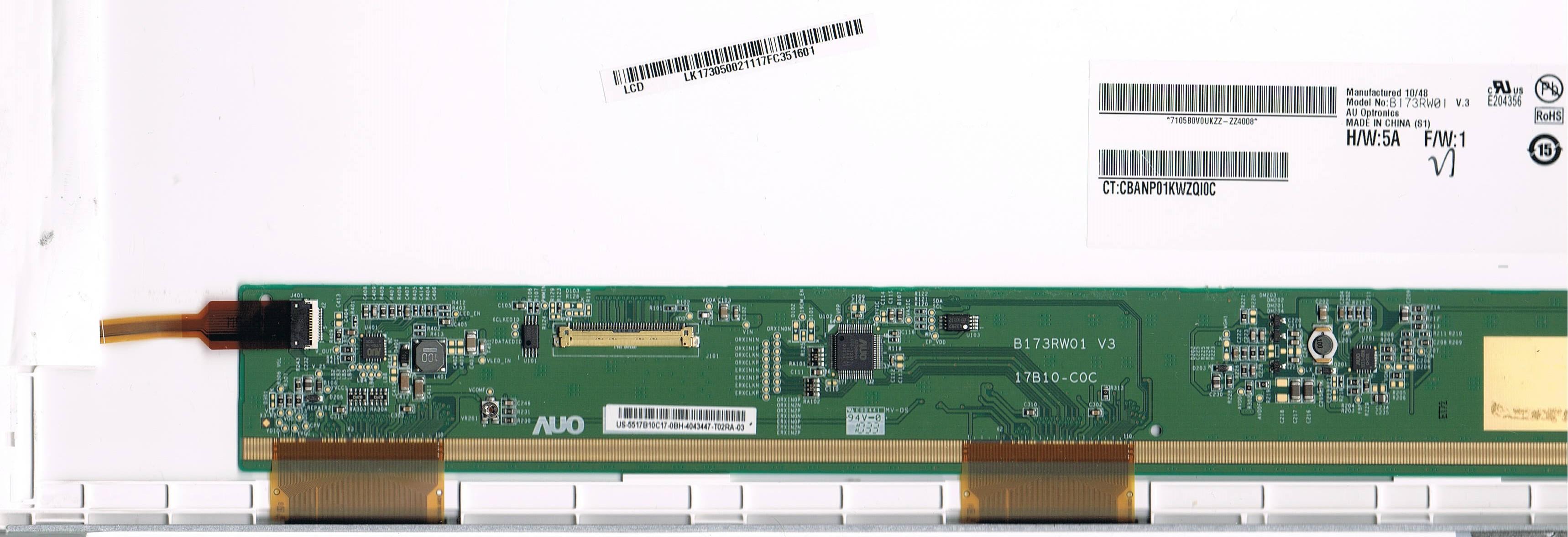 Acer 7750G - Brak pod�wietlenia w matrycy B173RW01 z inn� matryc� �wieci