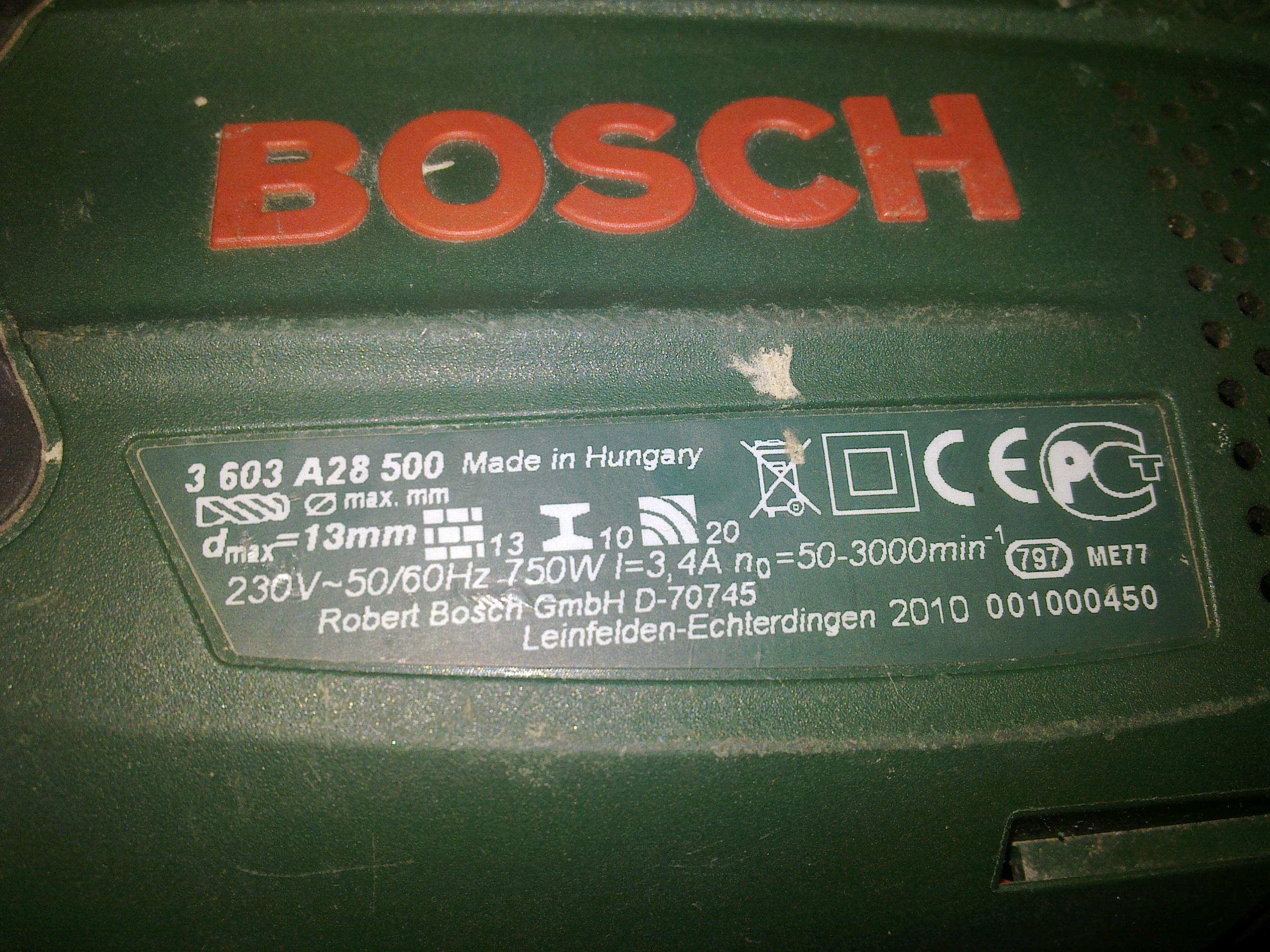Wiertarka Bosch 750 stojan uszkodzony