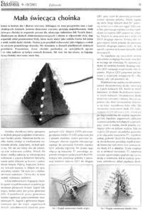 Choinka elektroniczna projekt - wydruk rzutu płaskiego