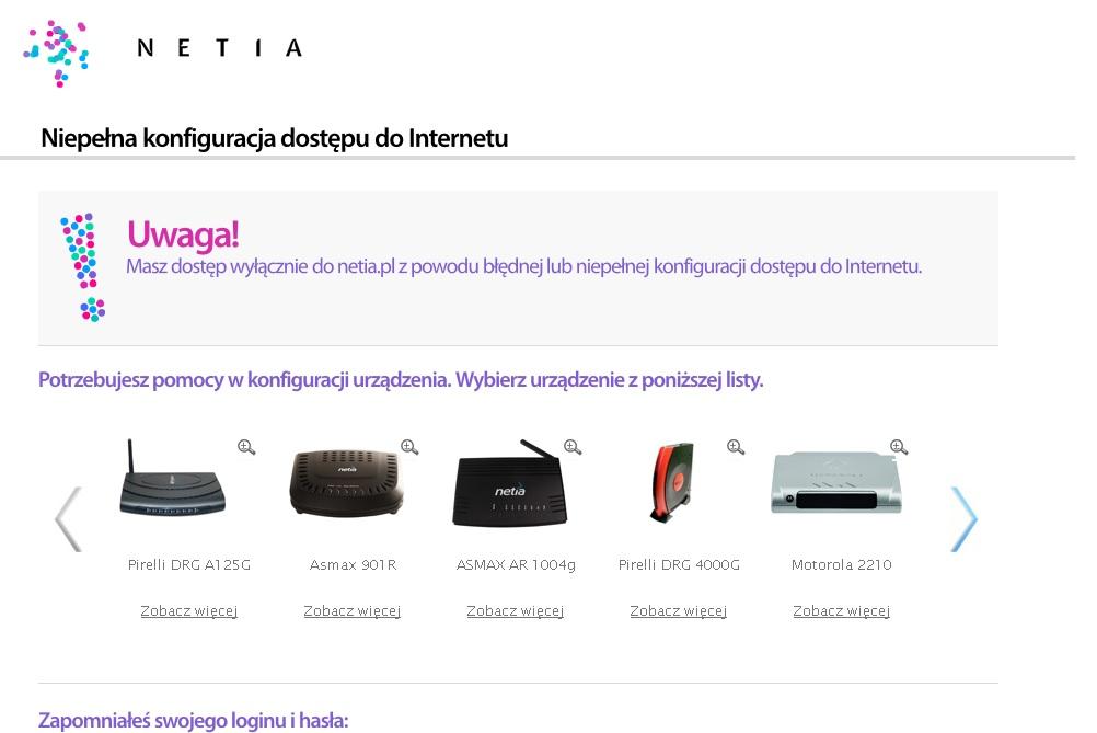 Netia Spot - Wi-fi pod��czony, ale brak dost�pu do internetu.