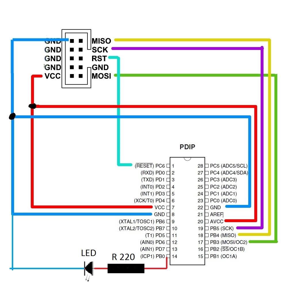 AVR ATmega16 Development Board - rhydoLABZcom