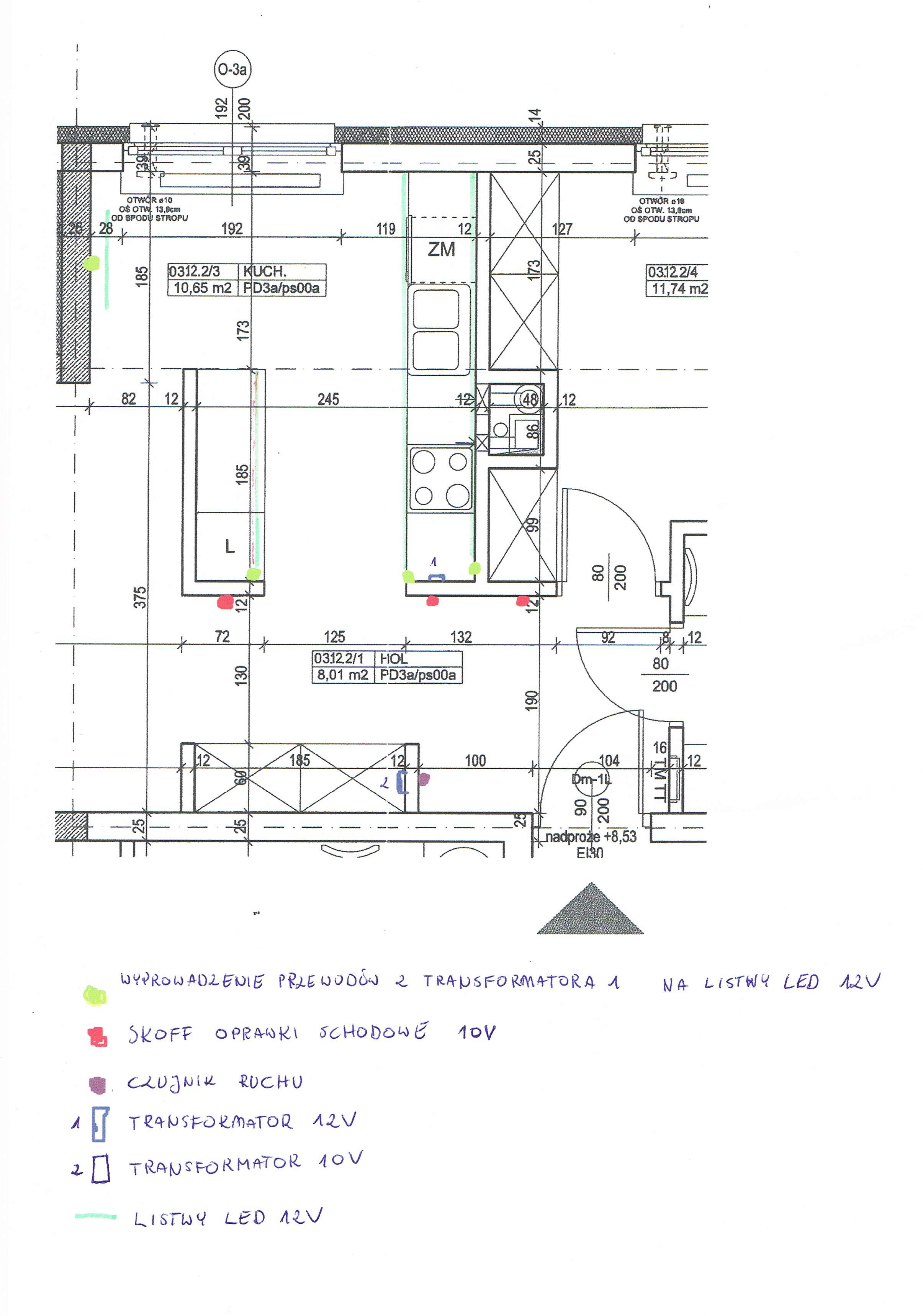 Monta� o�wietlenia LEDowego w kuchni i korytarzu