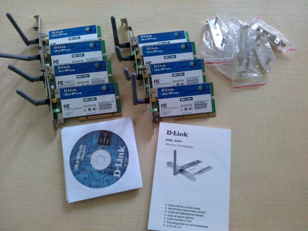 [Sprzedam] Nowe Karty wi-fi PCI D-Link, T-Link, Planet 54 MB/s, low profil