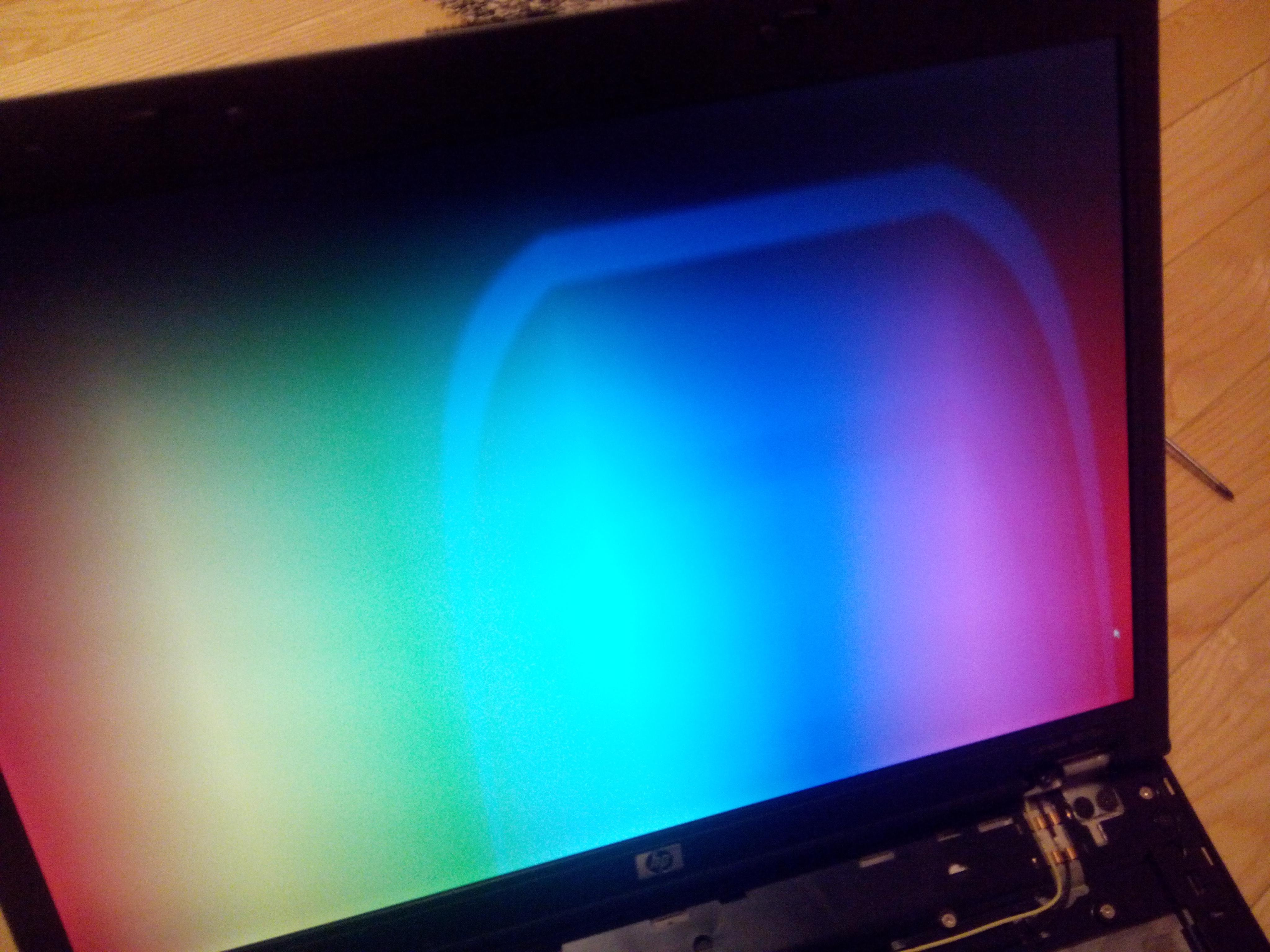 HP 8510w - LCD zn�w zwariowa� - szaleje szary kolor... (zdj�cia)