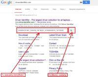 Wyszukiwanie sterowników w internecie bez znajomości modelu.