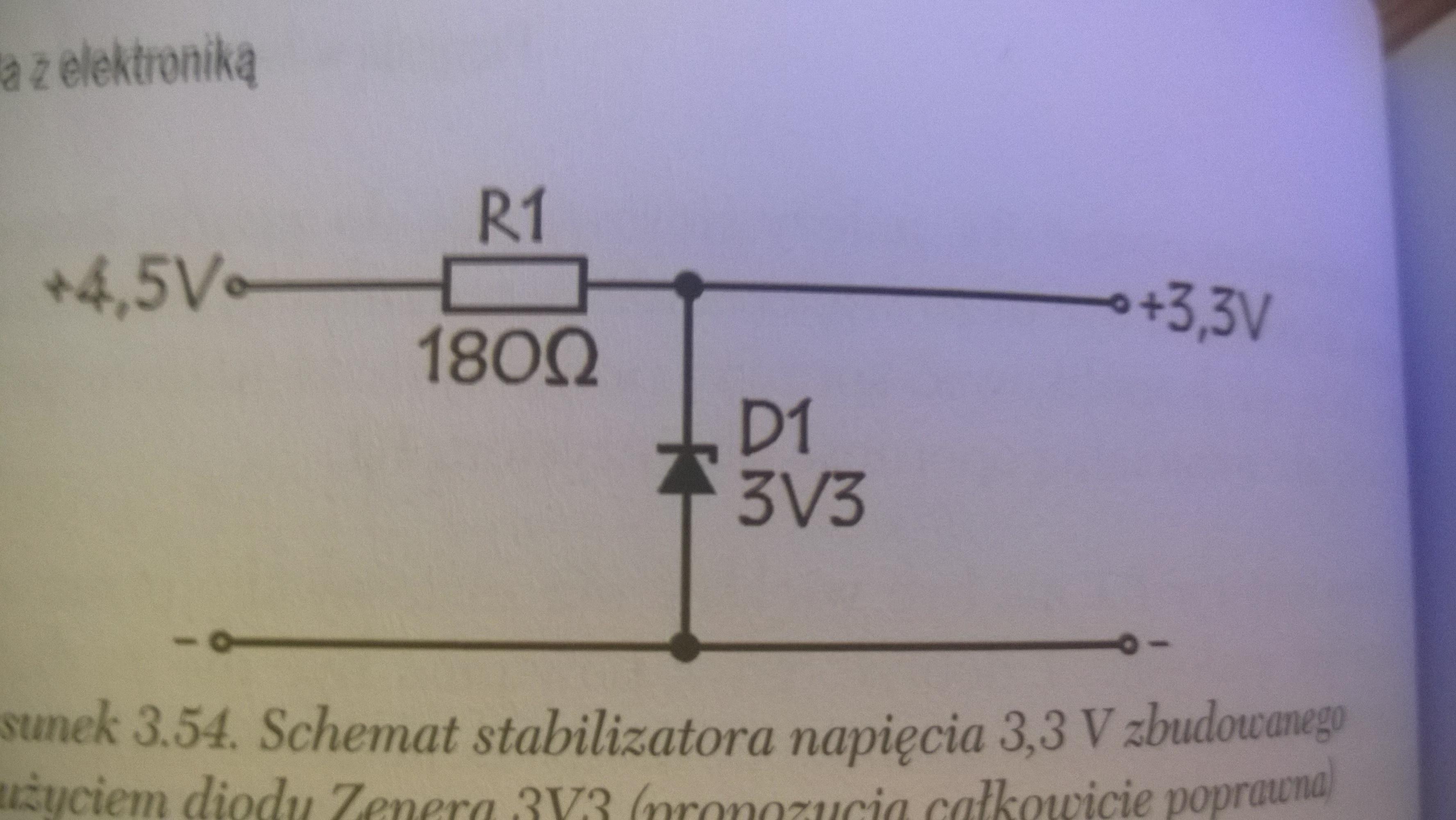 Stabilizator napi�cia z diod� Zenera