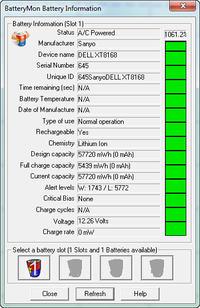 Regeneracja baterii od DELL XPS M1530