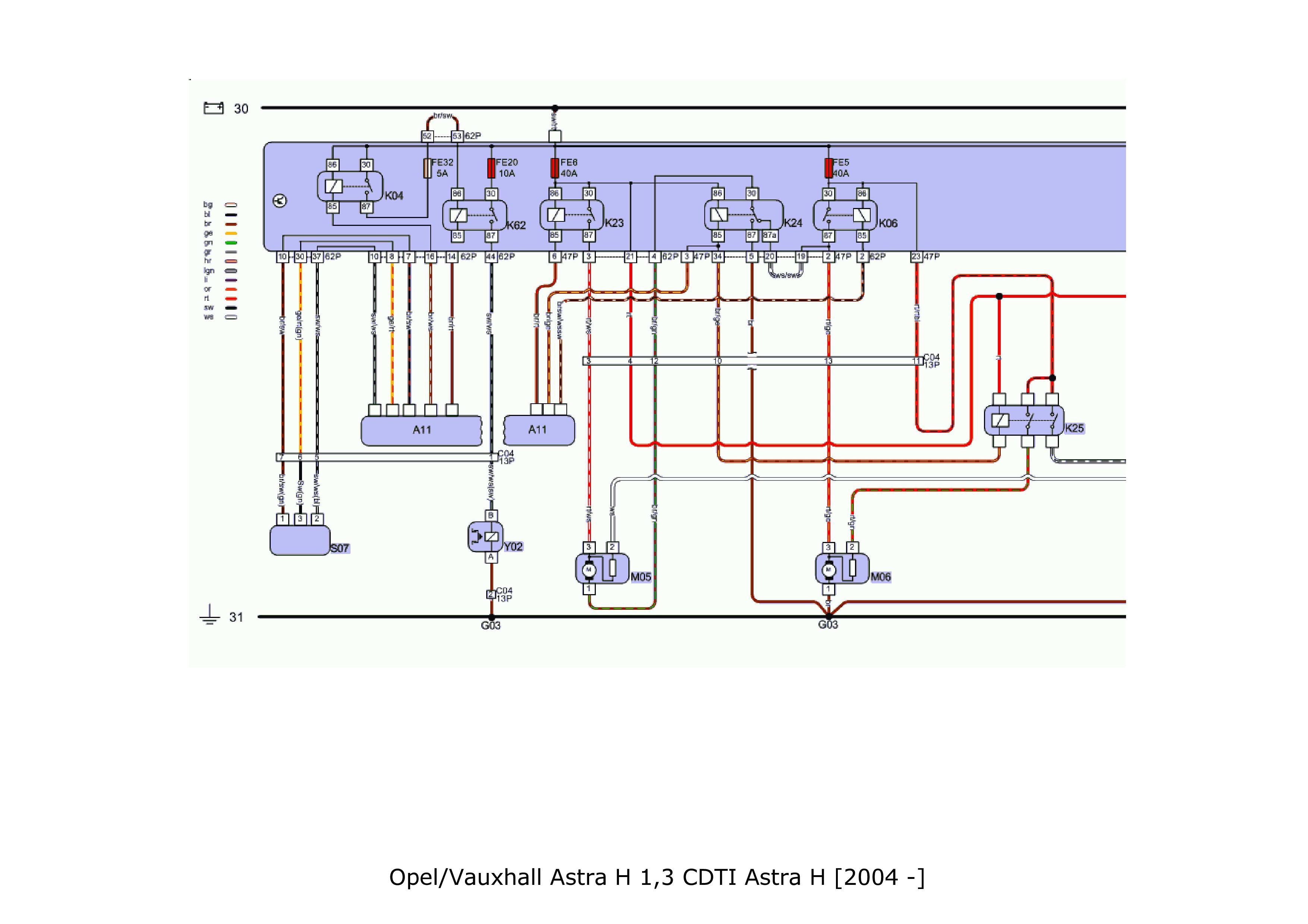 Opel Astra H - Napi�cie nie dochodzi do spr�arki klimatyzacji