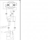 METABO KHE 56 - jak podłączyć włącznik z regulatorem obrotów/napięcia